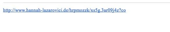 Sample suspicious link